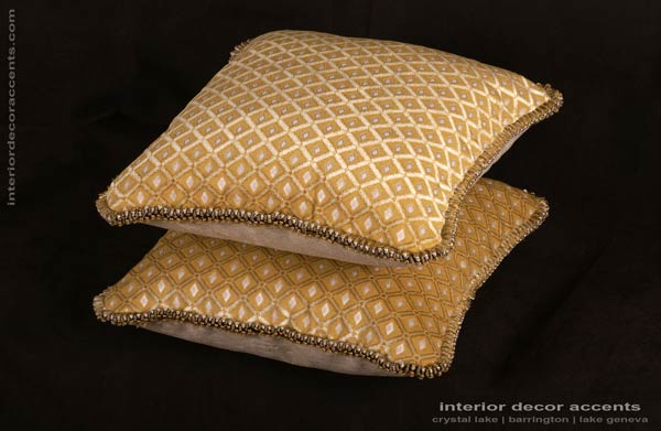 Old World Weavers cut velvet fabric decorative pillows for elegant and luxurious iterior decor accents