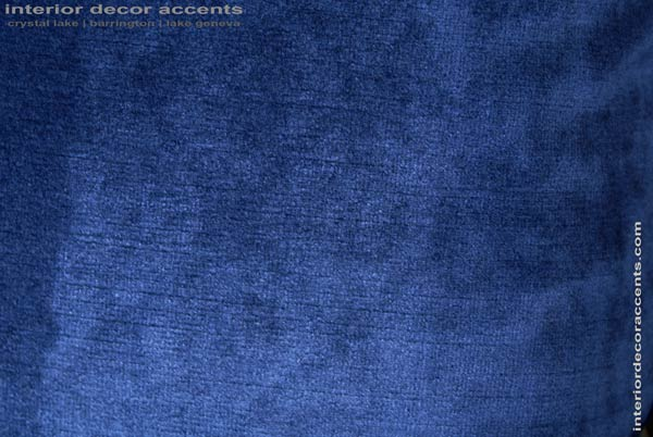 Stunning Donghia blue plush velvet for backing decorative pillows for modern, transitional, traditional and contemporary interior design and timeless home decor accents