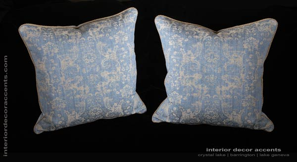 Lee Jofa Ossford Weave decorative designer pillows with French woven fabric and Belgian velvet backing for elegant home decor accents