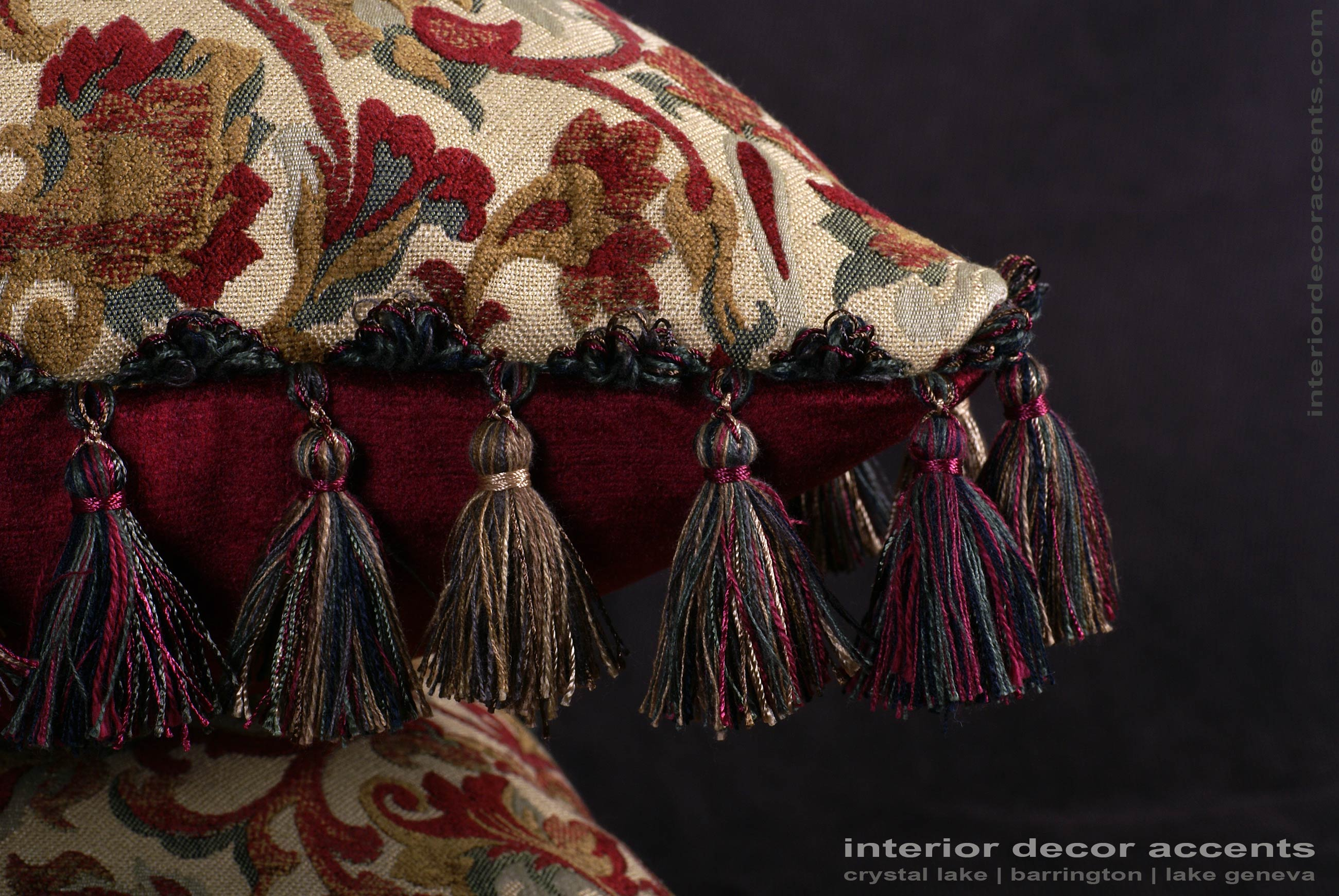 Kravet couture brocade old world weavers velvet pillows for Luxury decorative throw pillows
