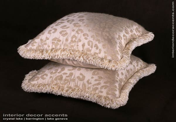 kravet couture silk mohair leopard in decorative accent pillows for traditional transitional contemporary and luxurious interior design and home decor accents