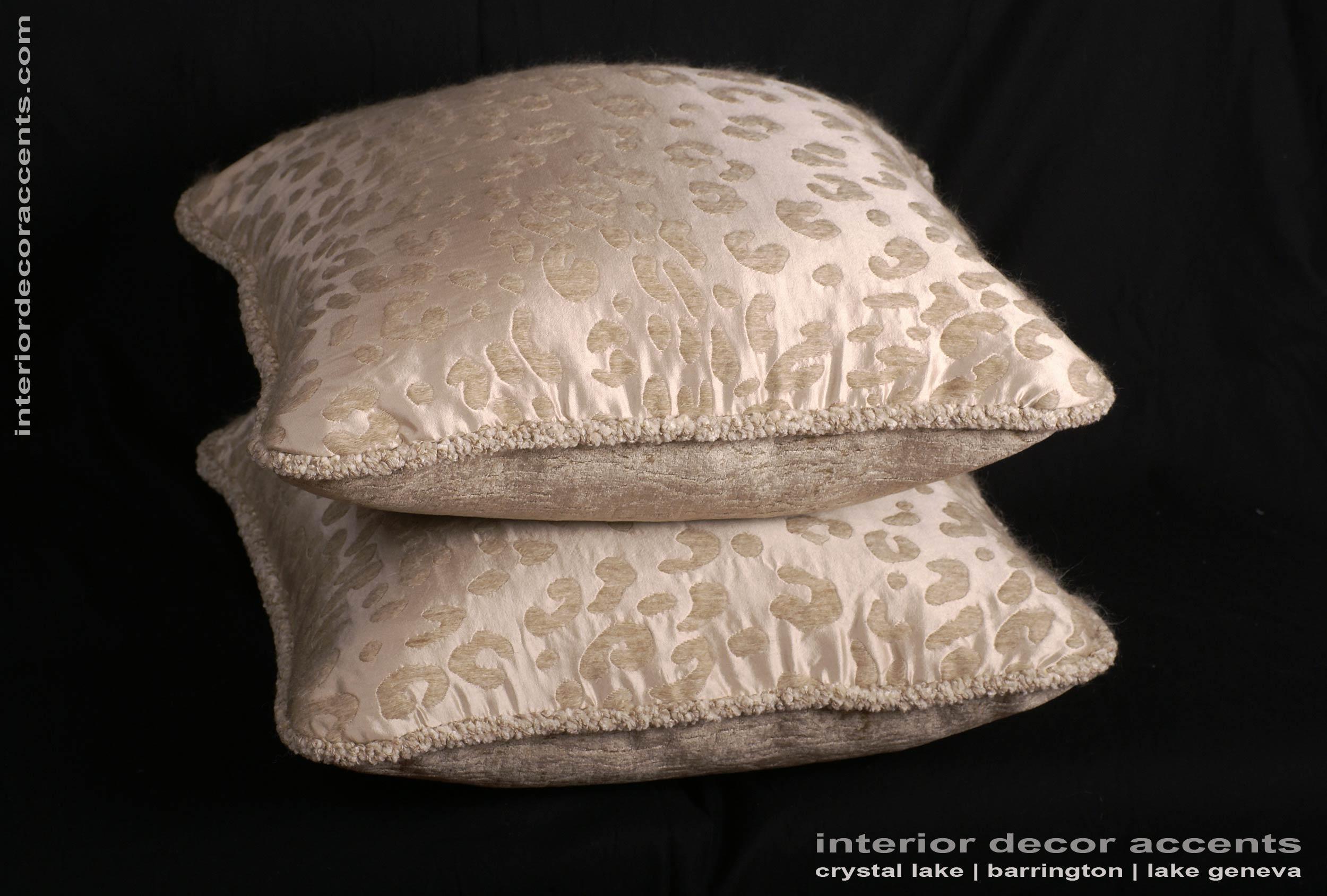 Custom Pillows Kravet Couture Mohair Leopard Lee Jofa