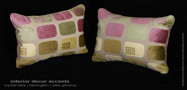 Lee Jofa mod decorative designer pillows with kravet velvet for contemporary and mid century modern home decor accents