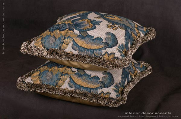 Lee Jofa French renaissance decorative throw pillows for elegant and luxurious interior design and home decor accents