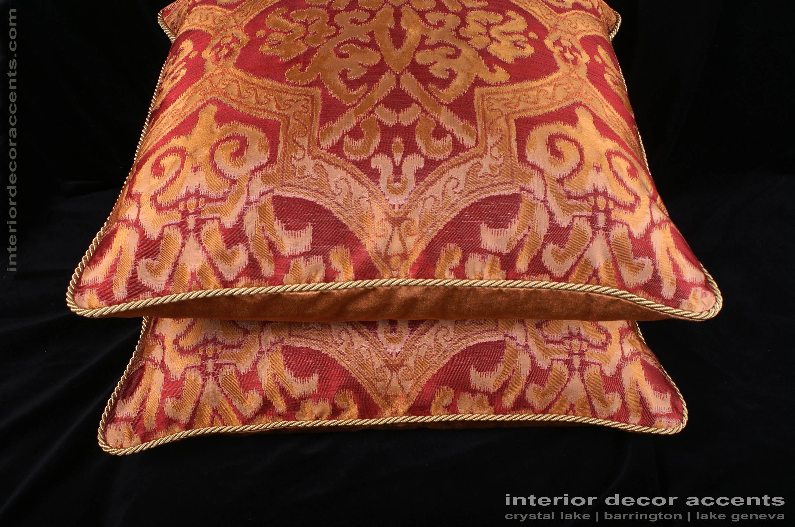 Lee Jofa Silk Damask Kravet Gold Velvet Large Designer