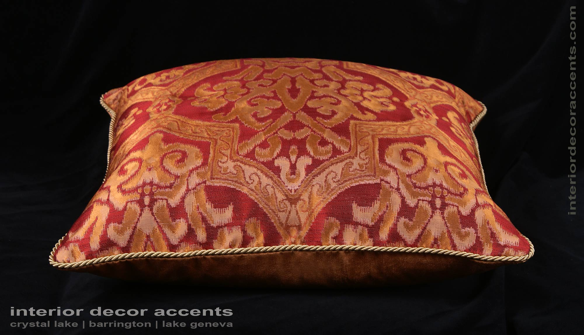 Lee Jofa Silk Jacquard Damask Single Decorative Pillows For Elegant Interiors And Home Decor Accents