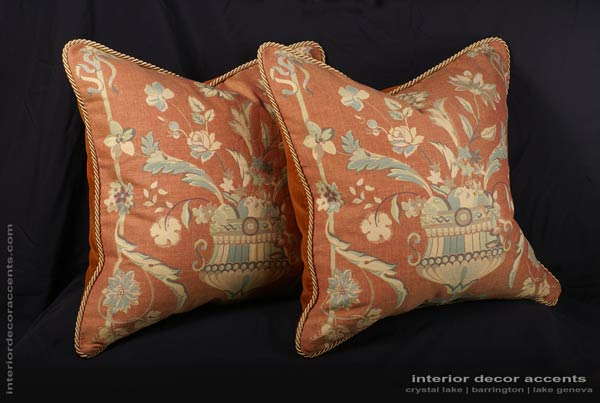 Old World Weavers damask brocade fabric decorative pillows for elegant and luxurious iterior home decor accents