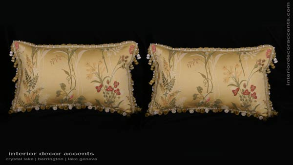 Pindler and Pindler decorative floral accent pillows for elegant and luxurious iterior home decor accents