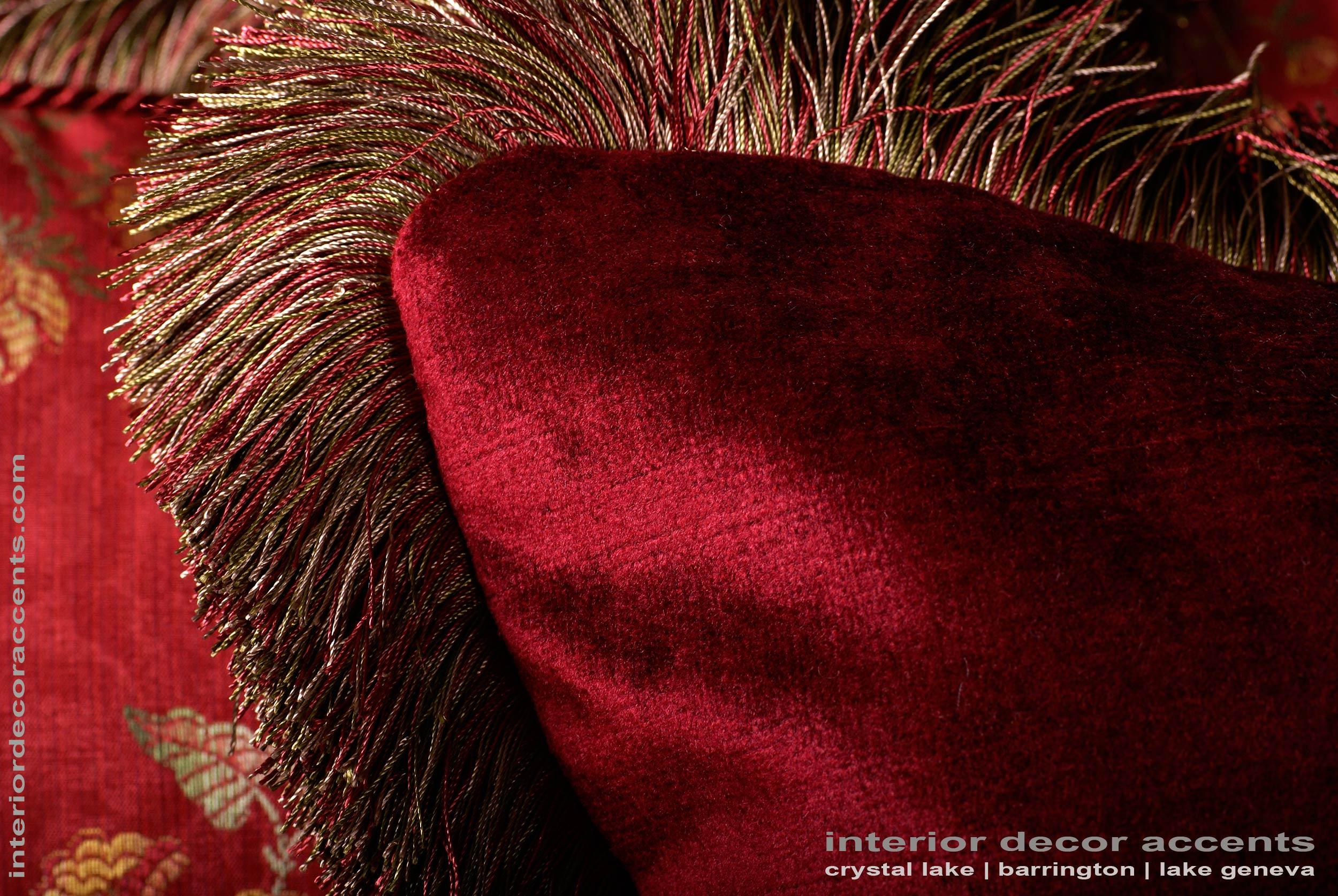 Scalamandre italian brocade old world weavers velvet pillows for Luxury fabrics