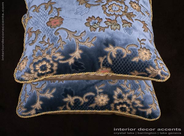 Scalamandre silk cut velvet decorative throw pillows for traditional and luxurious interior design and timeless home decor accents