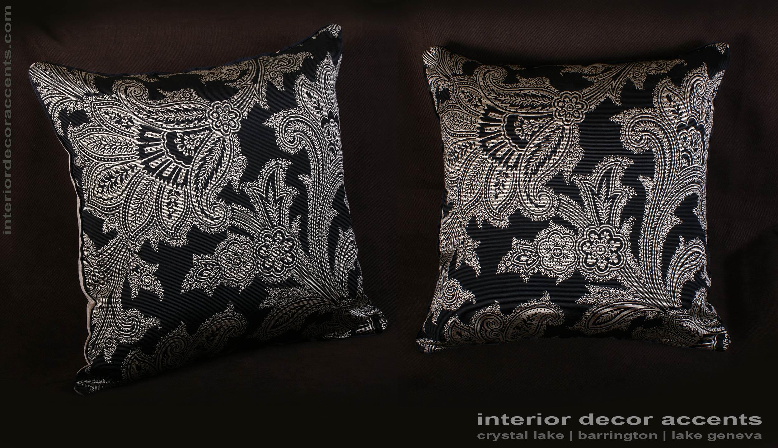 Schumacher Silk Paisley Lee Jofa Velvet Elegant Pillows
