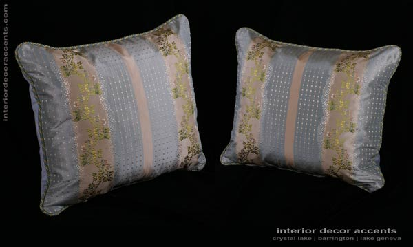 Silk brocade decorative accent pillows in scalamandre and lee jofa for traditional and transitional home decor accents and interior design