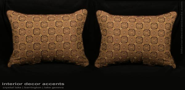 elegant stroheim medalion brocade decorative designer pillows with italian linen strie kravet couture velvet for contemporary transitional and traditional interior design and luxury home decor accents