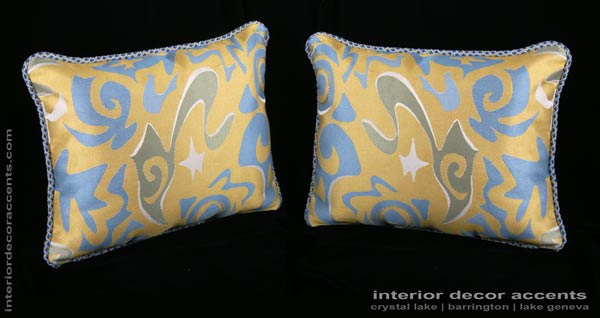 Italian modern brocade decorative throw pillows from stroheim with s. harris backing velvet for modern, transitional and traditional interior design and timeless home decor accents