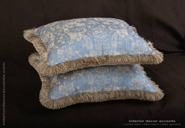 Lee Jofa Ossford Weave decorative designer pillows with Belgian velvet backing for elegant home decor accents
